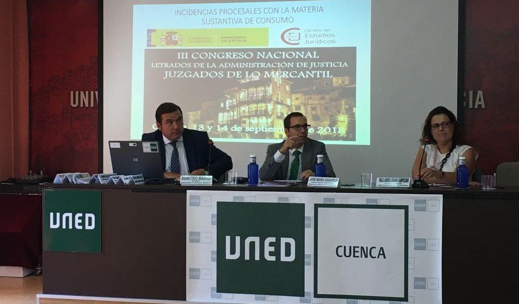Demetrio Madrid Participa Como Ponente Del III Congreso De Letrados De La Administración De Justicia