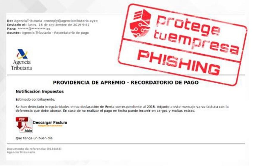 Aviso de correos fraudulentos
