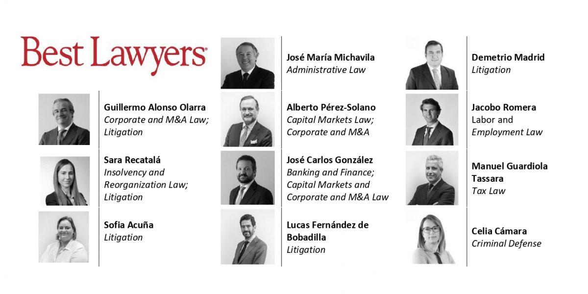 11 SOCIOS DE MA ABOGADOS RECONOCIDOS POR SU PROFESIONALIDAD EN EL DIRECTORIO INTERNACIONAL BEST LAWYERS